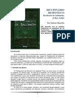 Gabriel Muscillo - Diccionario Demoníaco.. Bestiario de Salomón, El Rey Sabio