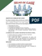 O CONSELHO DE CLASSE EC 303