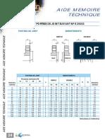 24 - BRIDES - Emboîtements Suivant Norme NFE