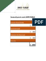 Estructura de precio de venta JASOTEC-PLANILLAS
