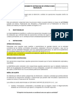 PROCEDIMIENTO DE OPERACIONES SOSPECHOSAS