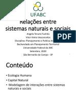 Relações entre sistemas naturais e sociais