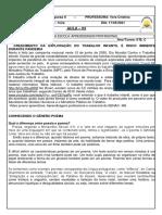 6°B, C 1705 LPII PREMIO MPT  NA ESCOLA- APRENDIZAGEM PROFISSIONAL
