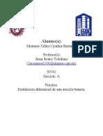 Reporte destilacion diferencial Monares
