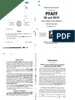 Pfaff Model 30 & 31 Owners Manual