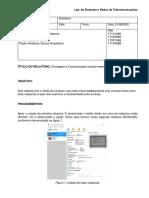 Relatório da montagem da rede no Virtual Box