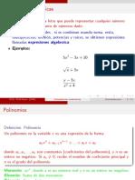 Expresiones algebraicas, polinomios y Productos notables. (1)