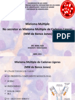 Mieloma multiple no secretor Vs Bence jones