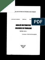 Analiza Matematica Culegere Anul I