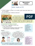 ADICION HASTA EL 99 - 2 PRIM