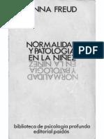 Freud Anna Normalidad Y Patologia en La Ninez PDF