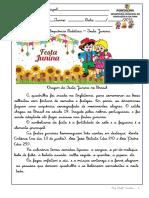 SEQUENCIA DIDÁTICA - FESTA JUNINA  2021-  3 ao 5 ano Aninha