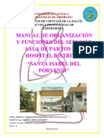GERENCIA Y GESTION - PRACTICA - MANUAL DE ORGANIZACIÓN Y FUNCIONES. 2018