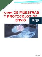 Toma de muestras y protocolos de envió