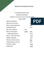 Estados Financieros - Formatos