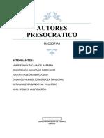 Autores Presocraticos