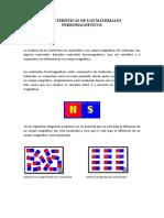 Características de los materiales ferromagneticos