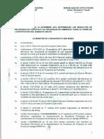 ARRÊTÉ DELIVRANCE DU CERTIFICAT DU PROCESSUS DE KIMBERLEY DANS LE CADRE DE L'EXPORTATION DES DIAMANTS BRUTS 2014.pdf.pdf