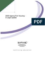 2009 Agency - Fair Housing - A Legal Update