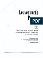 Evolution of the Us Army Tactical Doctrine, 1946-76,