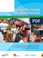 GUIA PARA PROFESIONALES ESQUEMA NACIONAL DE VACUNACIÓN  2017