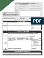 DICT - Formulaire de demande