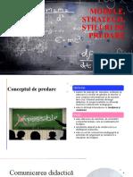 Modele, strategii, stiluri de predare