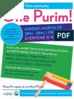 One Purim! at Lebovic Campus