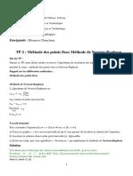 TP 2_Méthode Des Points Fix Et Méthodes de Newton_Solution