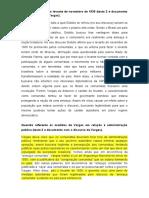 Texto 2 e documento de Vargas, levante de novembro de 1935