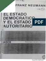 Neumann - El Estado democrático y el Estado autoritario (p. 13-29)