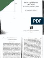 Bobbio - Estado, Gobierno y Sociedad