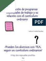 Pres.Elaboración de programas individuales de trabajo...L. G