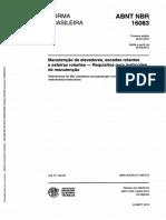 NBR 16083 - 2012 - MANUTENCAO DE ELEVADORES