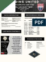 RUAC Match Notes 5.28.21 - PHI Lone Star
