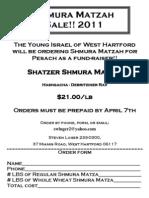 matzah 2011 - order form