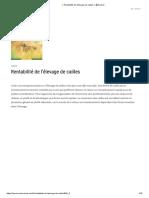 ⋆ Rentabilité de l'élevage de cailles ⋆ ?Farmer