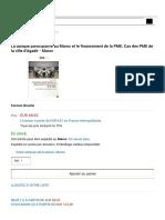 Cas des PME de la ville d'Agadir - Maroc - Soufiane Bouhadi - Livres