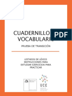 GUIA DE EJERCICTACIÓN VOCABULARIO