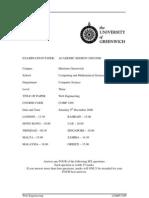Sample of Web Engineering Exam (Dec 2006) - UK University BSc Final Year