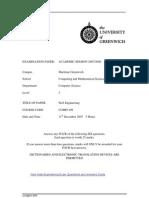 Sample of Web Engineering Exam (Dec 2007) - UK University BSc Final Year