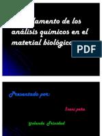 Fundamento de los analisis quimicos en el material