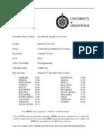Web Engineering Exam December 2010 - UK University BSc Final Year