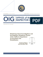 CDCR Discipline Monitoring Report July - December 2020