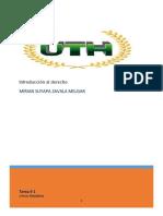 TAREA 1 INTRODUCCION AL DERECHO PRIMER PARCIAL