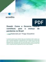 Dossiê do Movimento Acredito à CPI da Pandemia - interessante