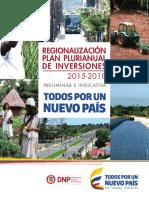 Plan Plurianual Inversiones Regionalización 2015