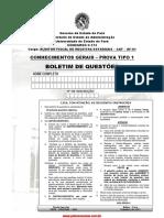 Auditor Fiscal de Receitas Estaduais Cgerais 2013 Tipo 1