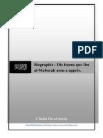 Biographie - Dix leçon que Ibn al-Mubarak nous appris