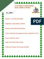 Capitulo 12 y 13 Apocalipsis y Daniel Dora Alicia Pinto
